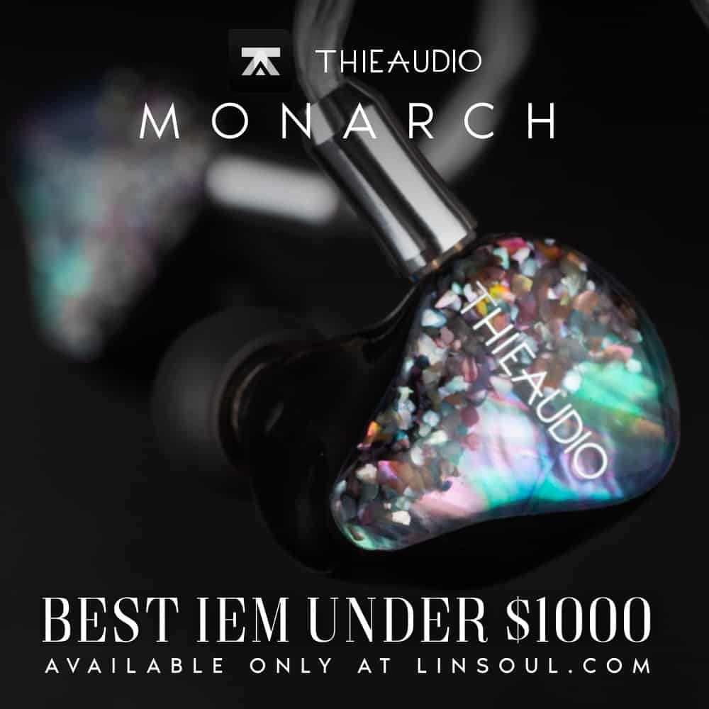 THIEAUDIO Monarch Electrostatic Tribrid In-Ear Monitor with 1 Dynamic Driver + 6 Balanced Armature Drivers + 2 Electrostatic Drivers