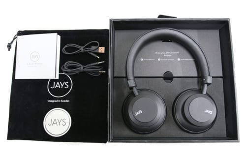 jays q-wireless box and accessories